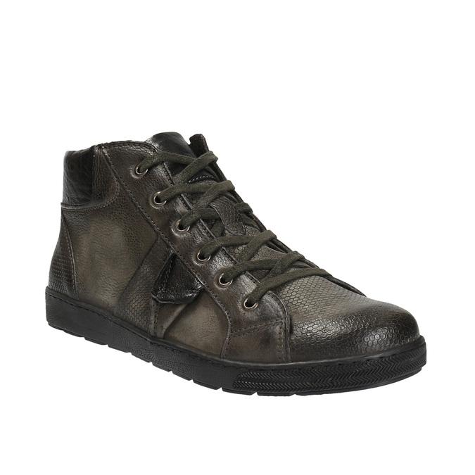 Skórzane buty męskie za kostkę bata, szary, 846-2602 - 13
