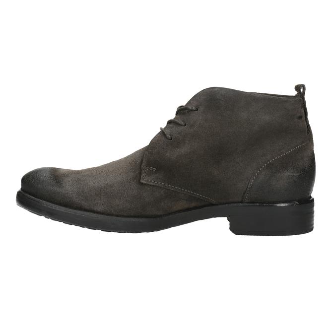 Zamszowe buty za kostkę bata, szary, 846-6611 - 26
