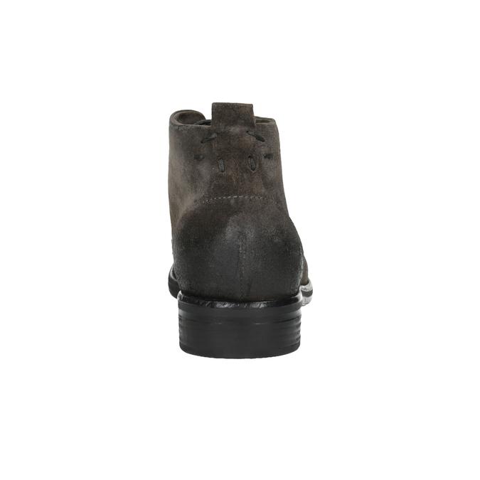 Zamszowe buty za kostkę bata, szary, 846-6611 - 17