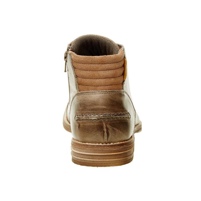 Męskie skórzane botki bata, brązowy, 894-2620 - 17