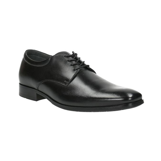 Półbuty męskie ze skóry bata, czarny, 824-6752 - 13