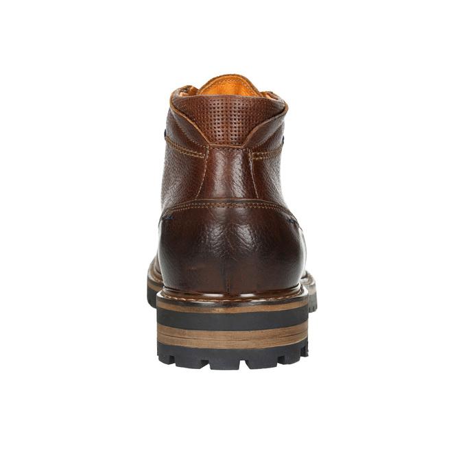 Męskie skórzane buty zimowe bata, brązowy, 894-3672 - 17