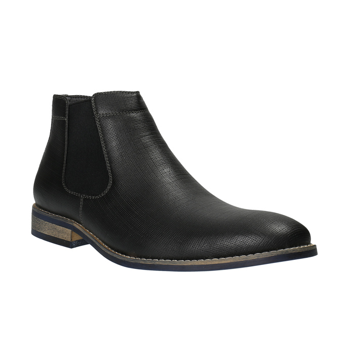 Czarne Chelsea Boots męskie bata, czarny, 891-6601 - 13