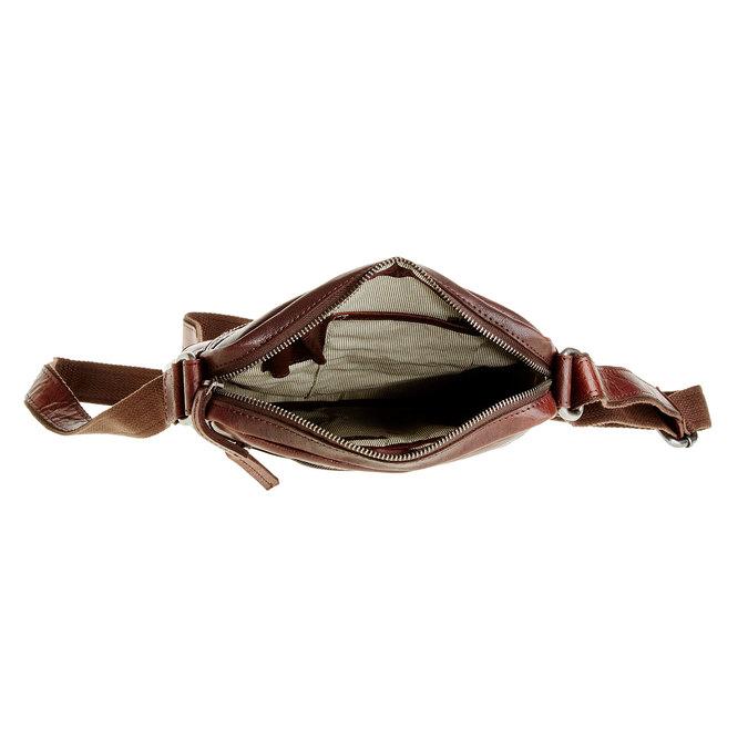 Męska skórzana torba Crossbody bata, brązowy, 964-4180 - 15