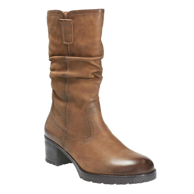 Botki damskie bata, brązowy, 696-3127 - 13