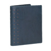 Skórzany portfel zperforacją bata, niebieski, 944-9175 - 13