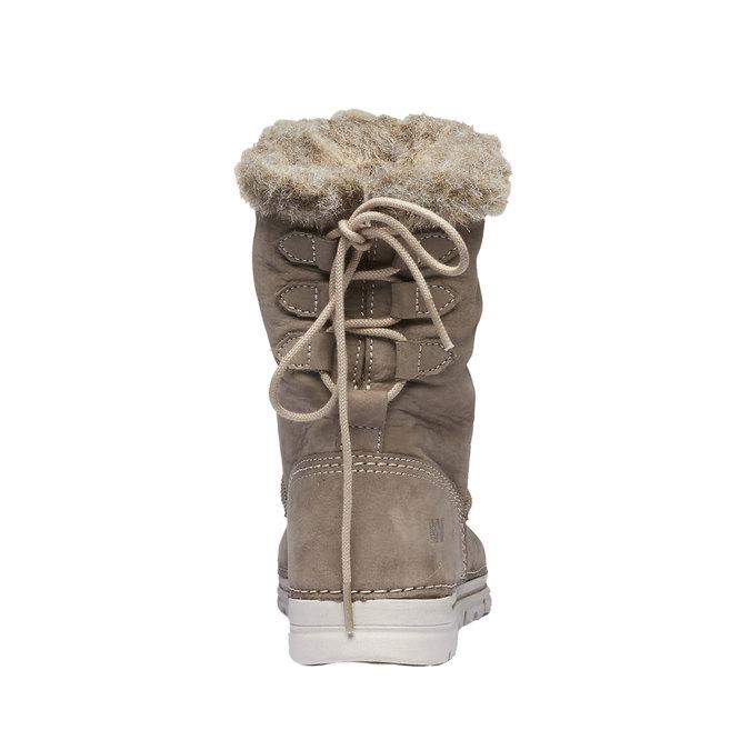 Zimowe buty damskie zfuterkiem weinbrenner, beżowy, 596-2334 - 17