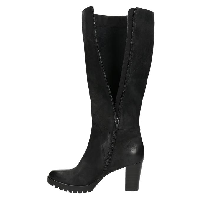 Kozaki damskie bata, czarny, 796-6601 - 26