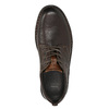 Skórzane półbuty w swobodnym stylu na wyrazistej podeszwie bata, brązowy, 824-4698 - 26