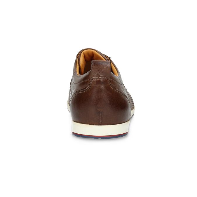 Skórzane buty sportowe na co dzień bata, brązowy, 824-4124 - 15
