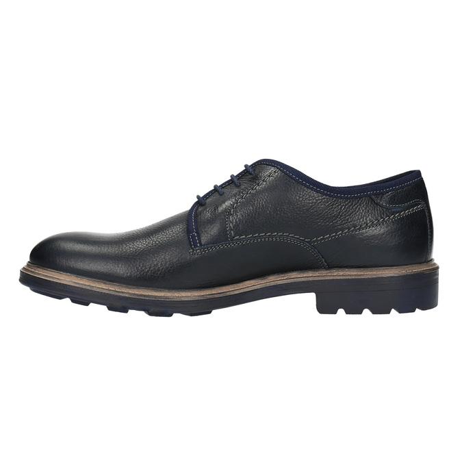 Skórzane niebieskie półbuty w swobodnym stylu bata, niebieski, 824-9699 - 26