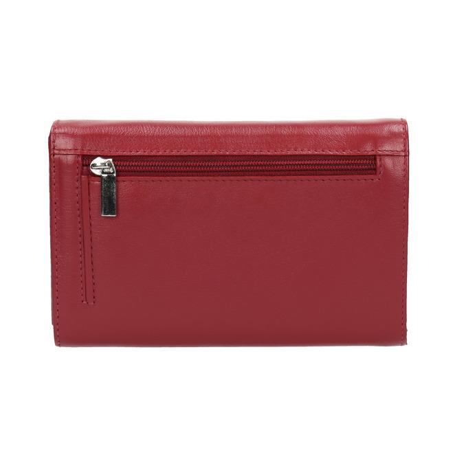 Skórzany portfel damski bata, czerwony, 944-5168 - 19