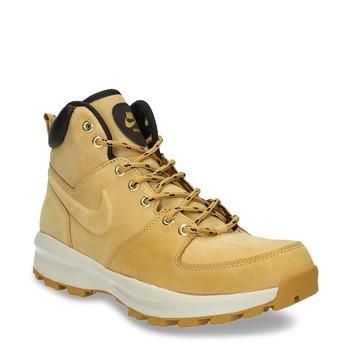 Skórzane buty męskie za kostkę nike, brązowy, 806-8435 - 13