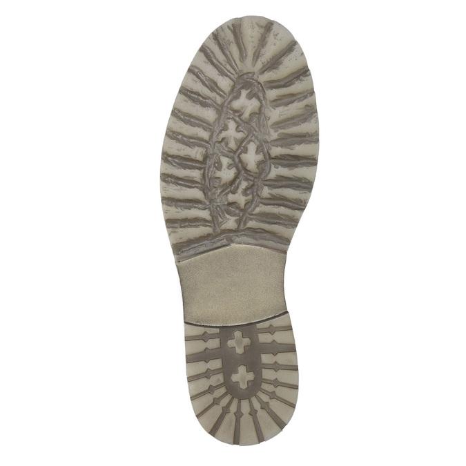 Skórzane buty do kostki bata, szary, 894-2643 - 19