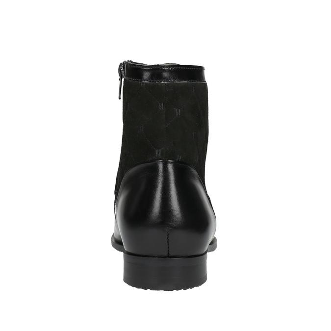 Skórzane ocieplane buty za kostkę conhpol, czarny, 894-6677 - 17