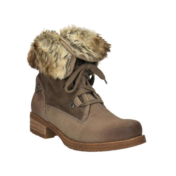 Zimowe buty damskie zfuterkiem bata, brązowy, 591-3605 - 13