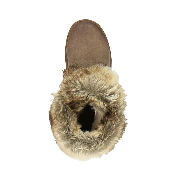 Zimowe buty damskie zfuterkiem bata, brązowy, 591-3605 - 19