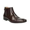 Skórzane buty męskie za kostkę bata, brązowy, 896-4655 - 13