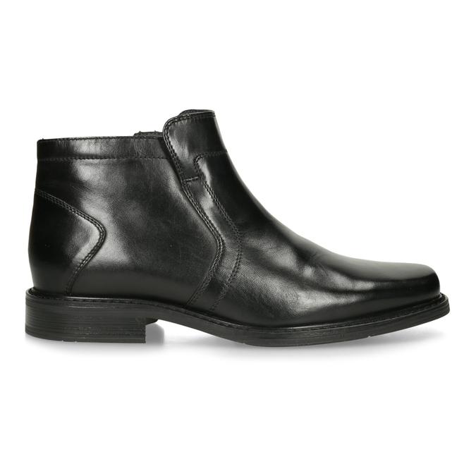 Skórzane ocieplane buty za kostkę bata, czarny, 894-6641 - 19