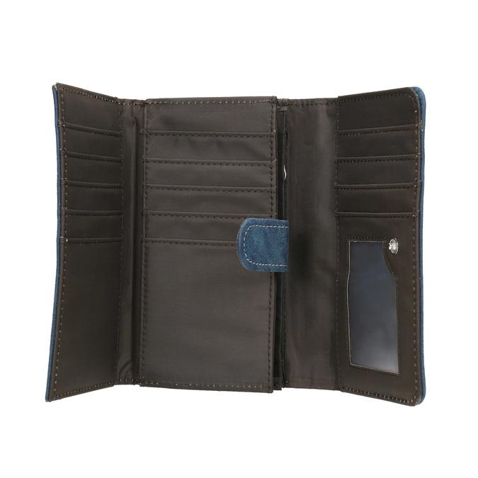 Niebieski portfel damski bata, niebieski, 941-9153 - 15