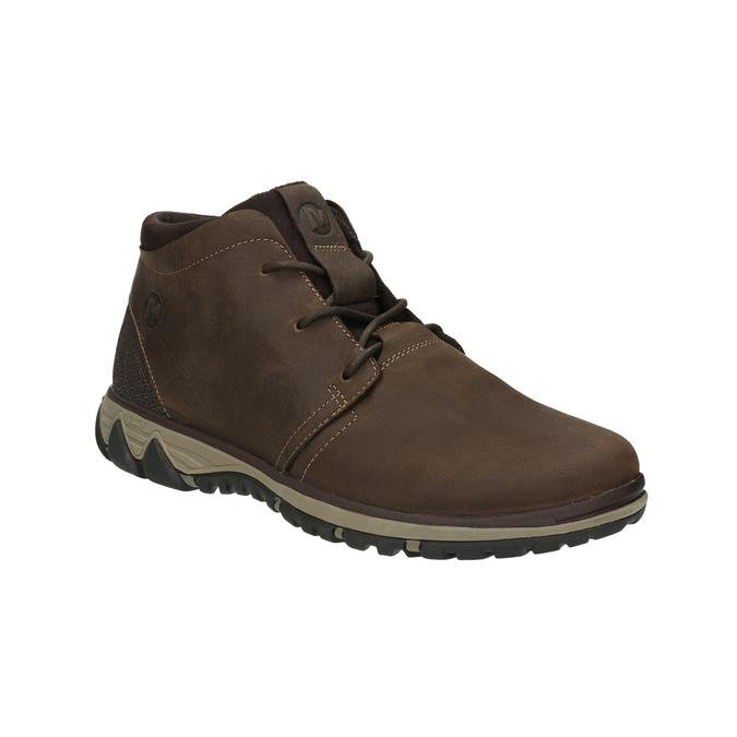 Skórzane buty męskie za kostkę merrell, brązowy, 806-4842 - 13