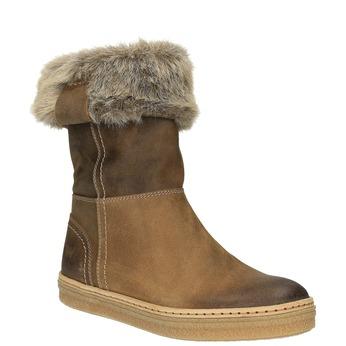 Skórzane buty zimowe z futerkiem weinbrenner, brązowy, 596-4633 - 13