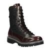 Skórzane sznurowane buty na wyrazistej podeszwie weinbrenner, czerwony, 596-5635 - 13