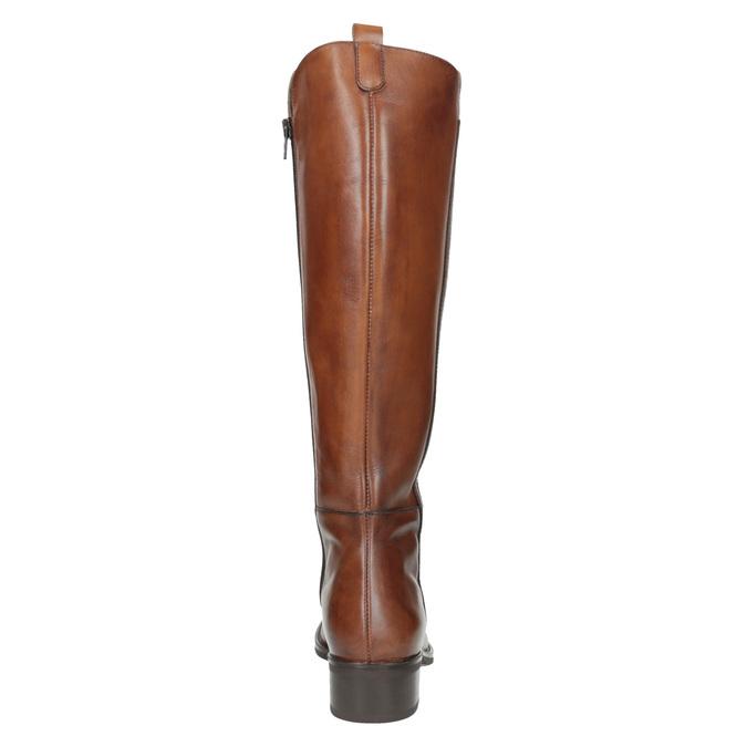 Damskie skórzane kozaki bata, brązowy, 594-3586 - 17