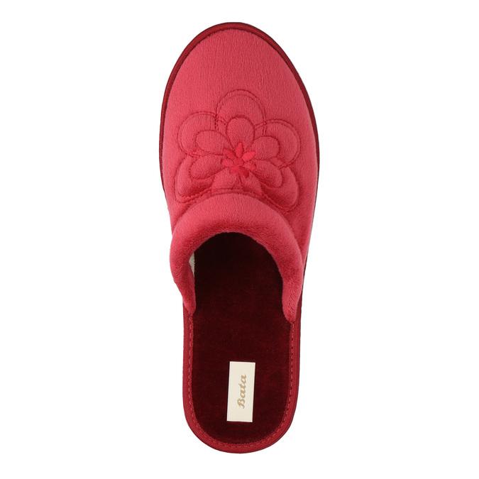 Kapcie damskie bata, czerwony, 579-5611 - 19