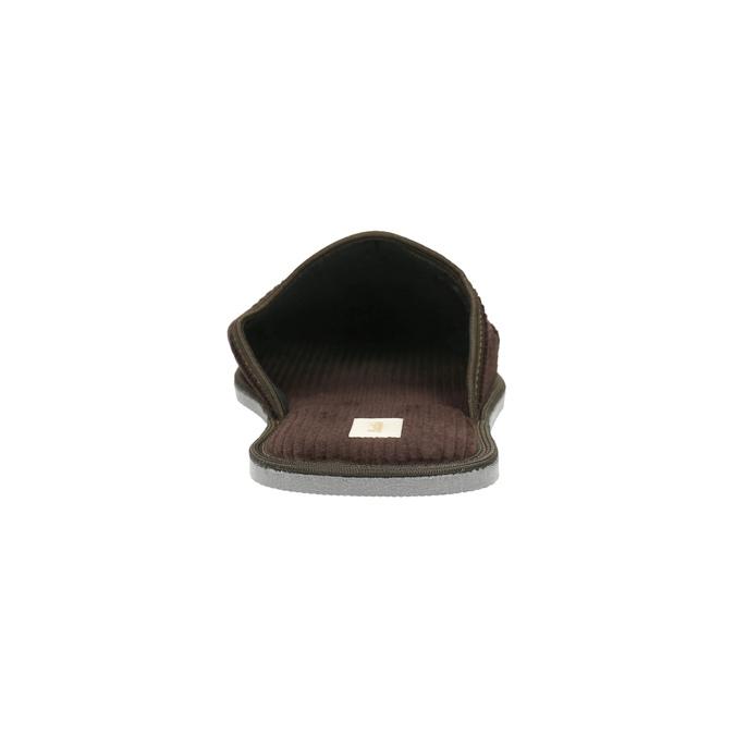 Kapcie męskie zpełnymi noskami bata, brązowy, 879-4609 - 17