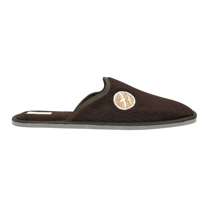 Kapcie męskie zpełnymi noskami bata, brązowy, 879-4609 - 15