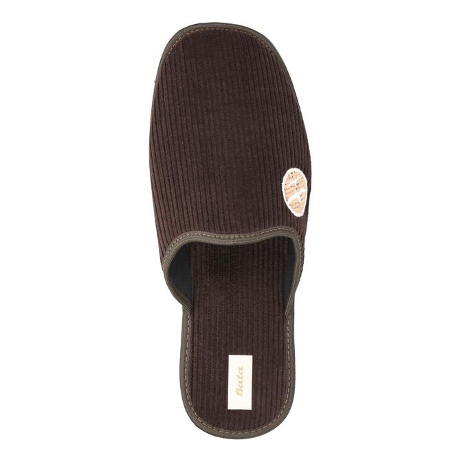Kapcie męskie zpełnymi noskami bata, brązowy, 879-4609 - 19