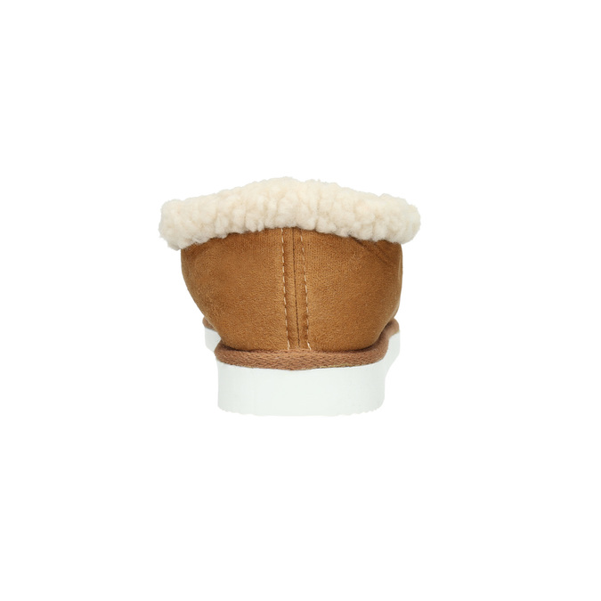 Kapcie domowe ze sztucznym futerkiem bata, brązowy, 579-8612 - 17