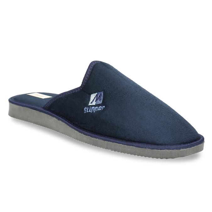 Kapcie męskie zpełnymi noskami bata, niebieski, 879-9605 - 13