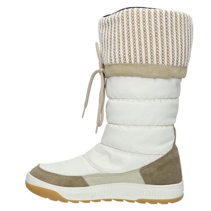 Śniegowce damskie zdzianinowymi mankietami weinbrenner, biały, 599-8500 - 19