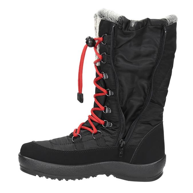 Czarne śniegowce damskie zfuterkiem weinbrenner, czarny, 599-6612 - 19