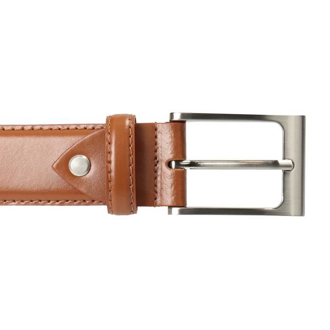 Brązowy skórzany pasek męski bata, brązowy, 954-3153 - 26