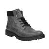 Skórzane buty za kostkę na grubej podeszwie weinbrenner, szary, 896-2110 - 13