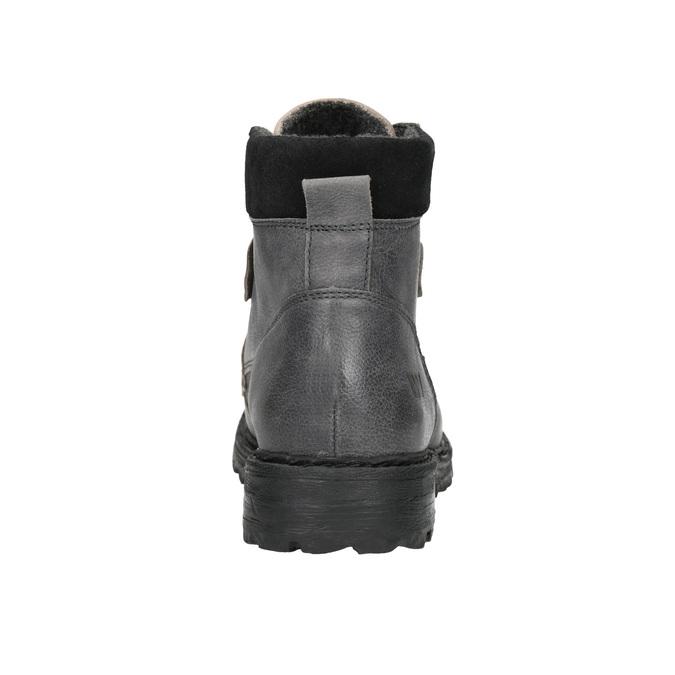 Skórzane buty za kostkę na grubej podeszwie weinbrenner, szary, 896-2110 - 17