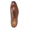 Brązowe skórzane półbuty męskie bata, brązowy, 826-3758 - 17