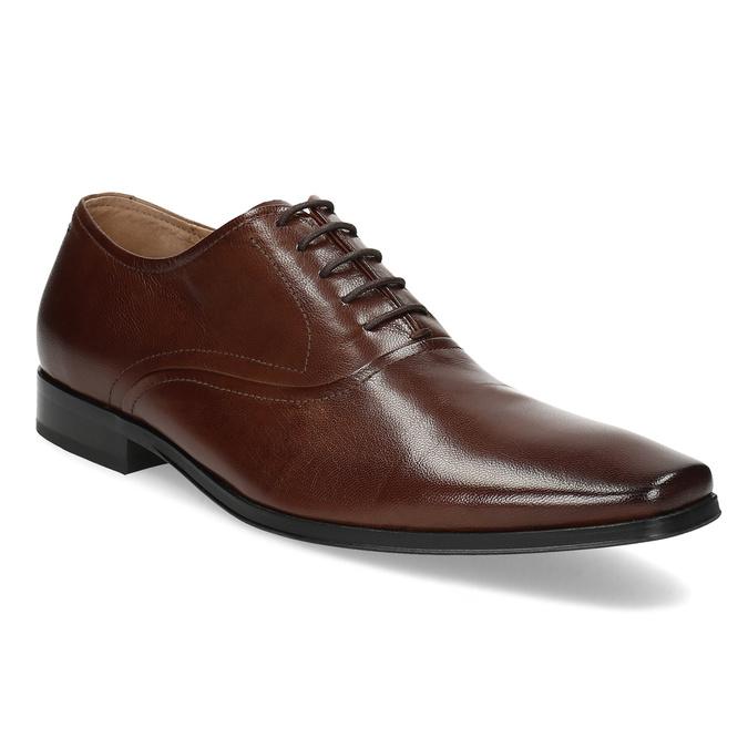 Brązowe skórzane półbuty typu oksfordy bata, brązowy, 826-3808 - 13