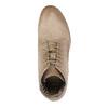 Skórzane botki zperforowanym wzorem bata, brązowy, 596-4646 - 19