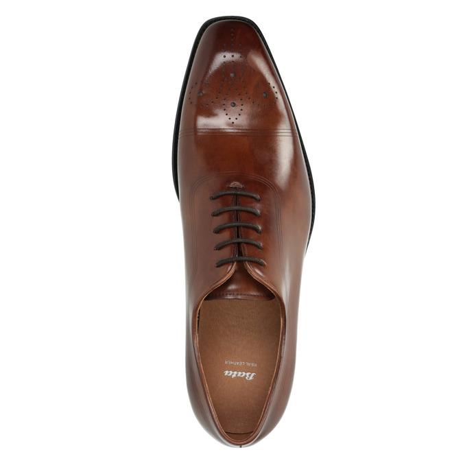 Skórzane półbuty typu oksfordy ze zdobieniami brogue bata, brązowy, 826-3811 - 19