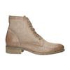 Skórzane botki zperforowanym wzorem bata, brązowy, 596-4646 - 15