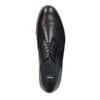 Skórzane półbuty męskie na grubszej podeszwie bata, niebieski, 826-9809 - 19