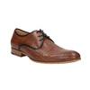 Skórzane półbuty z fakturą bata, brązowy, 826-3813 - 13