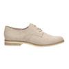 Półbuty angielki damskie bata, beżowy, 529-8632 - 15