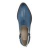 Skórzane botki zperforacją bata, niebieski, 596-9647 - 19
