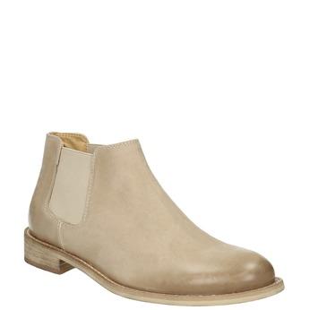 Skórzane buty Chelsea Boots bata, beżowy, 594-8432 - 13