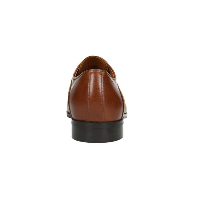 Brązowe półbuty zeskóry conhpol, brązowy, 824-3855 - 17